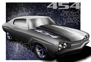 1970 Chevelle    The Pavement Slayer by ManicGraphix