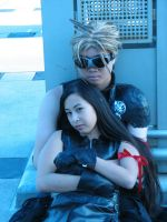 Cloud and Tifa by loruhcee