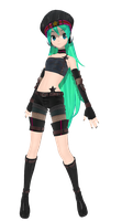 DT 2Nd punkish miku (DL) cuz i feel doing so by MMD-francis-co