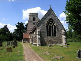 Quiet Suffolk Churchyard by In-the-picture