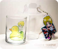 Hetalia: England mini glass cup by Animus-Rhythm