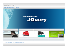 J Query Website concept by akiwi
