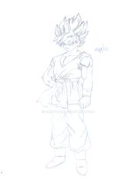 New DBGT - SSJ Goku Sketch (PREVIEW) by CAR-TACO