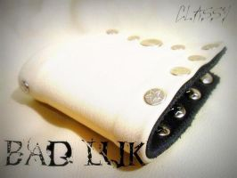 -BadLukClothing- Leather Wallet by BadLukArt