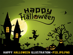 Free Happy Halloween Illustration by pixaroma