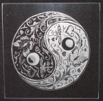 Yin Yang Engraving by gileda