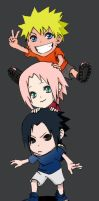 Chibi Team 7 by LUCK-Lnck