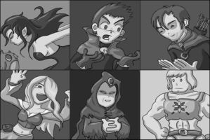 D and D Characters by mogstomp