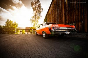 orange dodge by AmericanMuscle