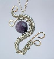 Amethyst Silver wire weave by crystalpanther2