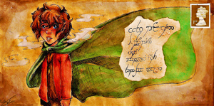 Mail Art- Frodo Baggins by Kittycatgal101