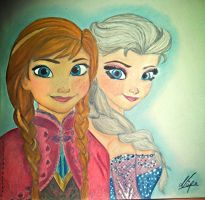 Frozen : Anna and Elsa by NINO332