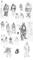 First Law Issue 02 Sketchdump by cronevald