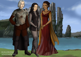 Rhaegar, Lyanna, and Elia at Harrenhall by RaeRihanna