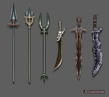 spear-sword weapons set by xensoldier