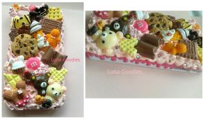 Cute Iphone 4 Case with yummy sweets by Luna-Goodies