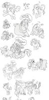 friendship is magic doodledump by muura