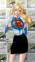 Supergirl ComicCon by J.Scott Campbell by tony058