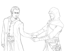 Clingy Altair Sketch by spinnigold