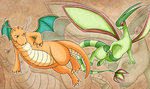 Dragonite vs Flygon by The-Nutkase