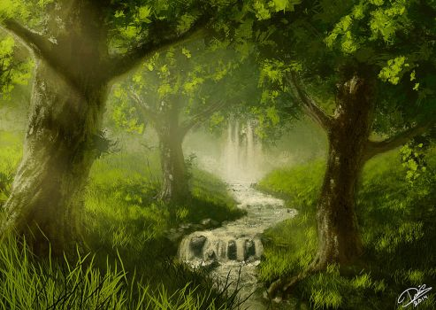 A Cozy Forest - Speedpainting by Disse86