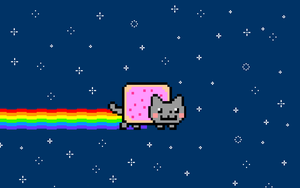 Nyan Cat Wallpaper by ElPonyDirectionerxD
