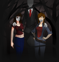 Commission: Nemesis, Diesel and Slenderman by 1Day4Dreams