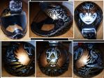 Skydiving helmet with metallic Sharpies by crazyxav
