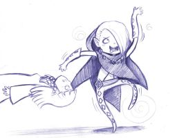 Ghirahim's Touchdown Dance by Theherois--me