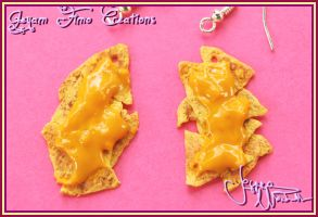 Nachos and Cheese - Earrings by Jeyam-PClay