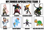Second Zombie Apocalyse Team Meme by TotallyDeviantLisa