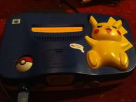 MY nintendo 64 pikachu by Pris-Shadow