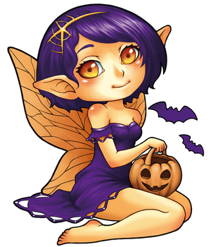 Fairy of Halloween by chante-cler