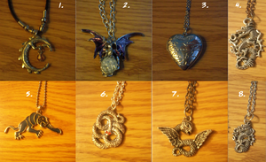 Necklaces for Sale! (No Longer Selling) by Yorialu