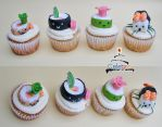 Sushi Cupcakes by The-Nonexistent