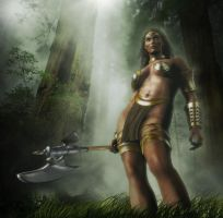 Female Barbarian III by Vehemel