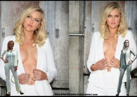 Elaine Hendrix Sexy and Gorgeous Wallpaper by AlbertWeskerG