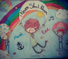 NeverShoutNever in the sky by cascadeofstars
