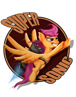 SUPER SONIC SCOOTALOO by Toonlancer