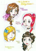 Friends and Me in Disney Style by Cardcaptor-Sophia