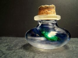 galaxy in a bottle by iGabo