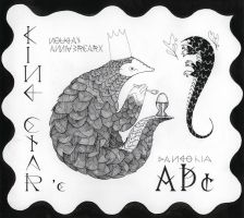 Pangolin Stamp by lemonflower