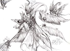 Fae Lines: needle and thread by driany