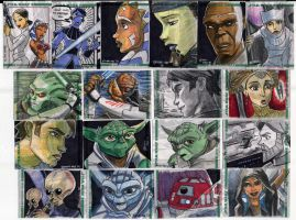 Clone Wars Sketch Cards 4 0f 4 by Fierymonk