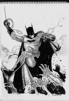 Batman Sketch by alanrobinson