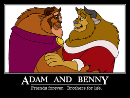 Benny and Adam Poster by BennytheBeast