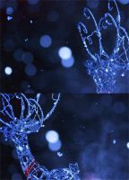 Snow and reindeer by GreenDots