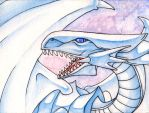 Blue Eyes White Dragon by NessaSan