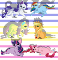 Mane Six Kittens by Puffleduck