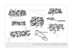 Text-Scribble Brushes by tunichtgut
